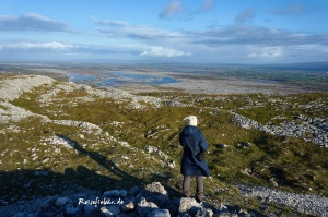irland the burren nationalpark gipfel