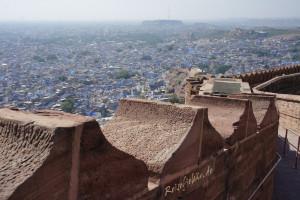 indien jodhpur mehrangarh fort mauer blick