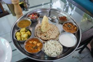 indien kochkurs thali