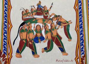 indien mandawa wandmalerei