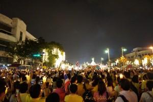 bangkok thai koenig geburtstag demokratiedenkmal