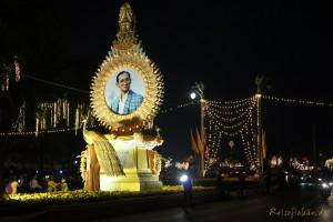 bangkok thai koenig geburtstag portrait