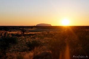 australien uluru ayers rock sonnenaufgang