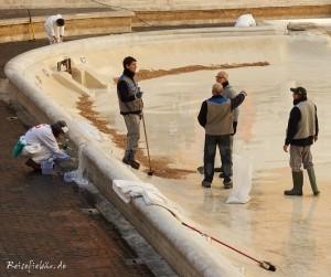 rom trevi brunnen reinigung geld sammeln