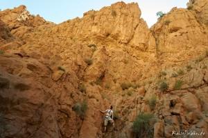 marokko canyon klettern dades schlucht