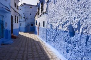 marokko chefchaouen blaue gassen