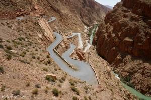 marokko dades schlucht strasse