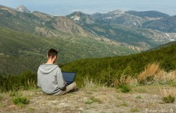 spanien sierra nevada laptop homeoffice